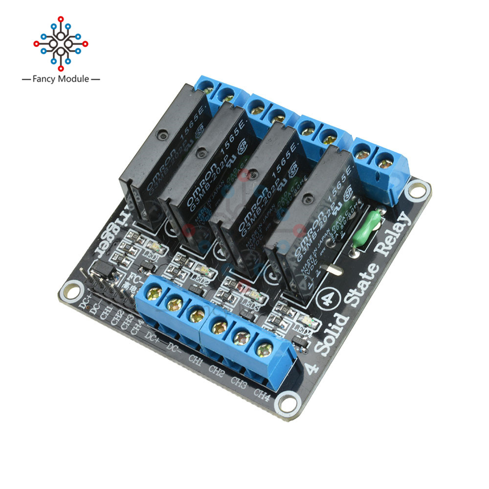 5V 4 CH OMRON SSR G3MB-202P Solid Relay Module with Resistive Fuse For Arduino лампа светодиодная 10215 e14 6w 4500k шар матовый led g45 6w nw e14 fr o