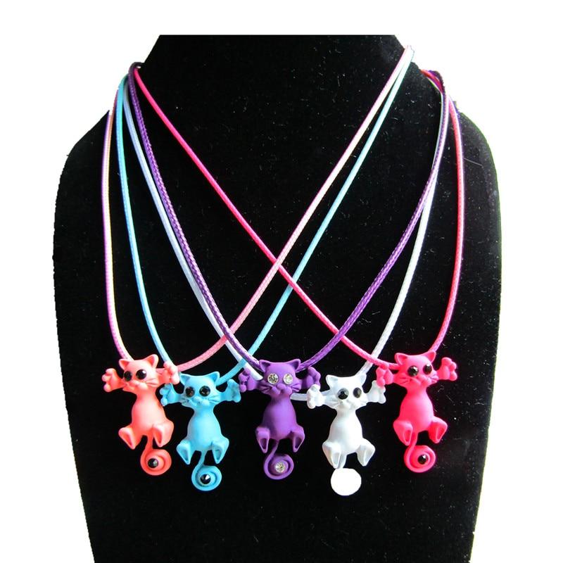 Kittenup  Nuevo de Múltiples Colores de Moda Lindo Gatito Gato Collar Colgante P