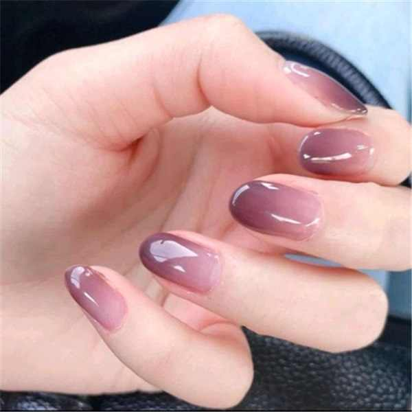 Hot Spots and Hearts Children Fake Nails 24 Pcs Pink Rhinestones Decoration  Pre-glue Press on Fake Nail Tips for Little Girls