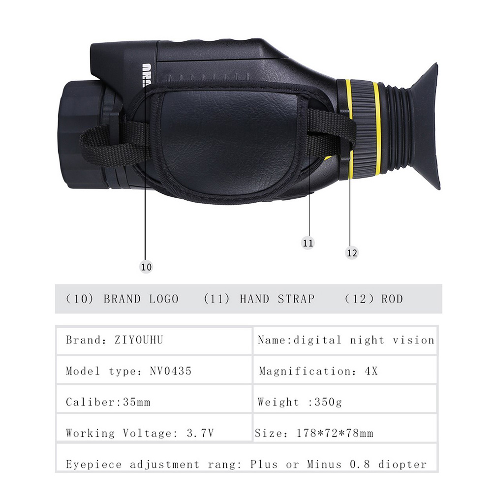 HD 4x35 Infrared Multifunctional Digital Night Vision Monocular Camera Scope Glasses Photo Video Large Screen Outdoor Tool New in Level Measuring Instruments from Tools