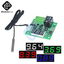 DC 12V Red Blue Green White LED Digital W1209 Thermostat Temperature Control Thermometer Switch Module + NTC Sensor Waterproof(China)