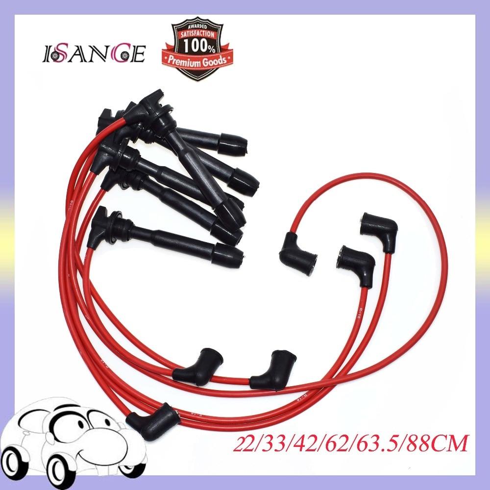 isance ignition spark plug wire set 7707 3878 for hyundai tiburon sonata santa fe kia optima [ 1000 x 1000 Pixel ]