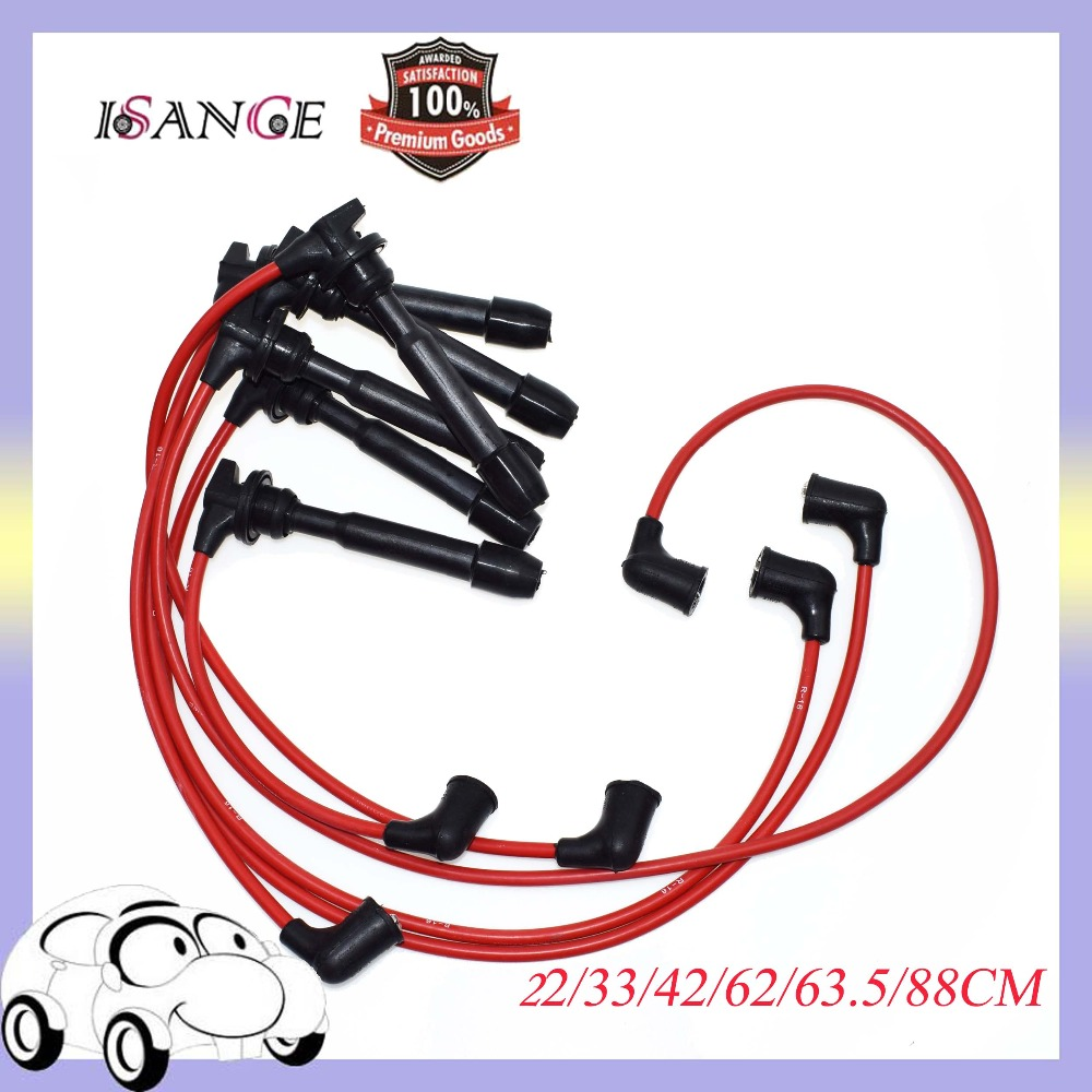 hight resolution of isance ignition spark plug wire set 7707 3878 for hyundai tiburon sonata santa fe kia optima