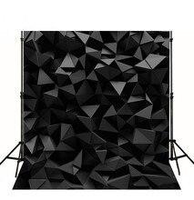 Misterioso Preto Diamante 3D Computador impresso contexto da fotografia fundo do estúdio Vinil pano de Alta qualidade do partido da foto cenário