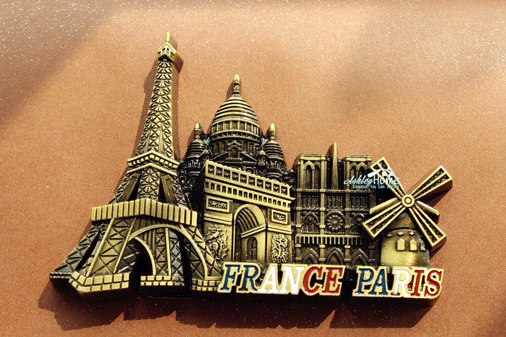 france paris landmarks tourist travel souvenir 3d metal fridge magnet craft gift idea in fridge. Black Bedroom Furniture Sets. Home Design Ideas