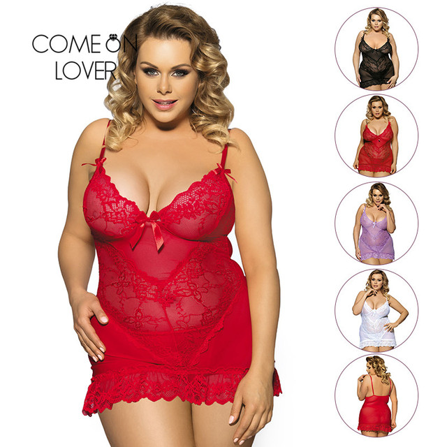 Comeonlover Plus Size Lingerie See Through Erotic Lingeries Fashion Seductive Porn Lingerie Nuisette Sexy Nightwear RI70218