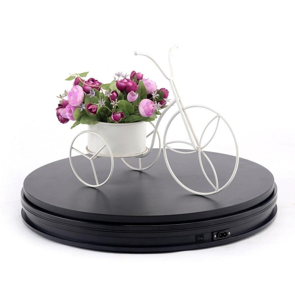 Wrumava 10 25cm Led Light 360 Degree Electric Rotating Turntable for Photography Showcase Max Load 10kg