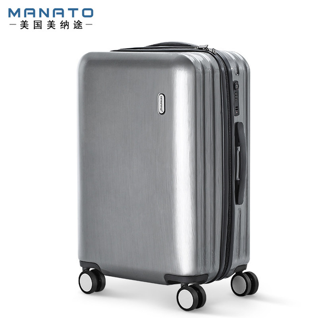 Manato 24 Inch  PC Unisex Luggage Trolley Travel Unisex Luggage Password Lock Rolling Luggage Hard Side Women Men Luggage