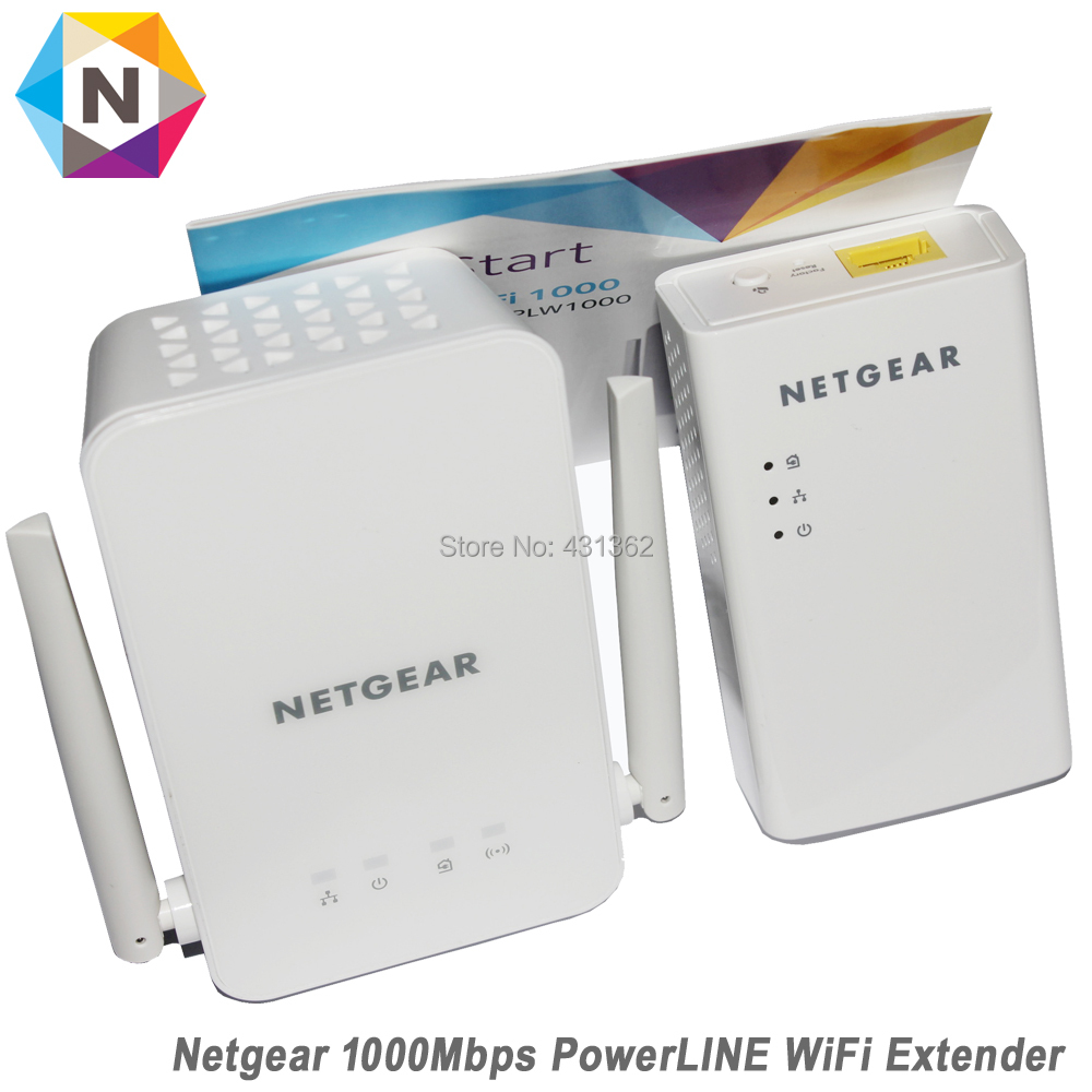 Netgear PowerLINE PLW1000 1000Mbps Bridge 802.11B/G/N/AC WiFi Extender Repeater