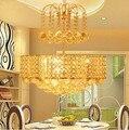 LED 60 см подвесной светильник европейский контракт столовая личность спальня освещение Кристалл Подвесные Лампы 110-240 В