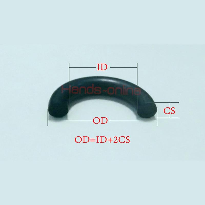 2.6 X 1.9 mm 70 de Silicona o/'ring 100x