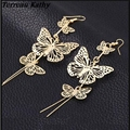 Terreau Kathy Fashion 2016 New Zinc Alloy Hot Selling Rock Exaggerated Hollow Butterfly Earrings For Women
