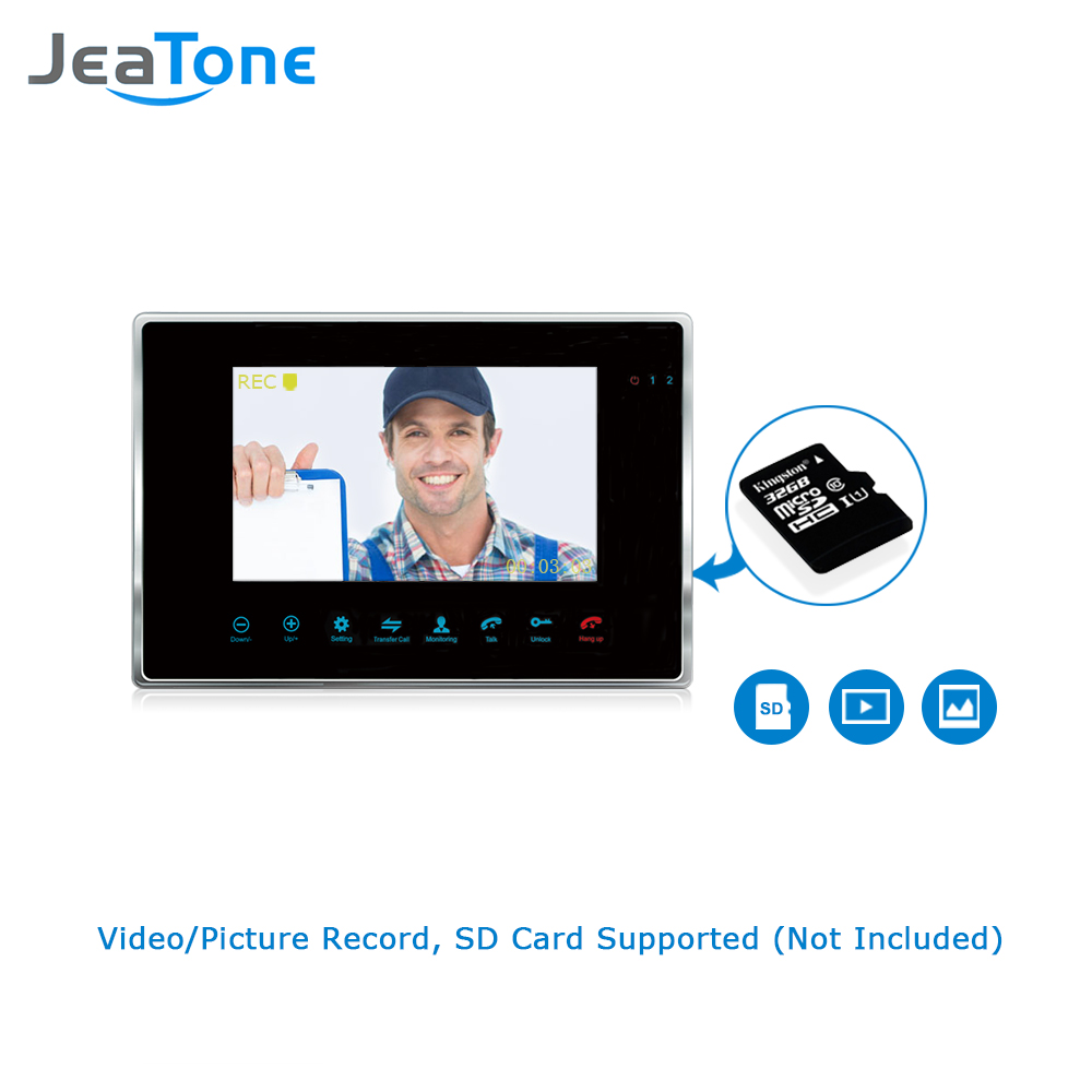 JeaTone 7 '' Проводной видеодомофон 1200TVL - Безопасность и защита - Фотография 5