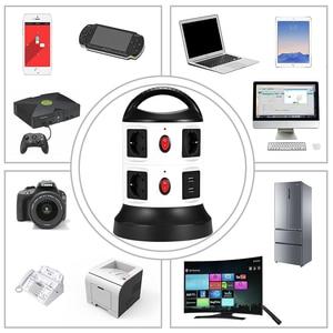 Image 5 - Rdxone eu延長ソケット電源タップサージプロテクター、1.8mリトラクタブル延長コード、区切らswtichs制御