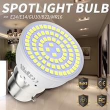 MR16 Spotlight Bulb E27 Led Lamp E14 Bombillas GU10 Spot Light gu5.3 Corn 220V B22 48 60 80Leds Ampoule SMD 2835