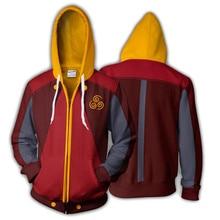 цена на 3d Print Anime Avatar: The Last Airbender Sweatshirts Hoodie Jackets Men Top Coat Zipper Casual Hoded Cosplay Costume