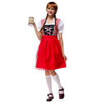 f1ed1c096e675 Halloween Bavarian Oktoberfest Beer Festival Maid Waiter Costume German Beer  Wench Girl Gretchen Costumes Fantasia Cosplay