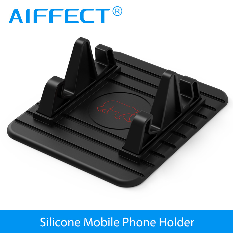 AIFFECT Silicone Car Phone Holder Car Dashboard Mobile Phone Holder Mount Stand Support GPS For IPhone Samsung Huawei Free Ship