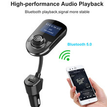 Konrisa Mobil Bluetooth Transmitter FM Modulator AUX Output MP3 Musik Player Handsfree Mobil Kit 5V 2.1A USB Charger Penopang kartu TF(China)