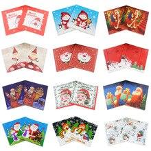 [RainLoong] Santaกระดาษผ้ากันเปื้อนSnowmanสำหรับตกแต่งคริสต์มาสGuardanapo 33*33 ซม.5 แพ็ค (20 ชิ้น/แพ็ค)