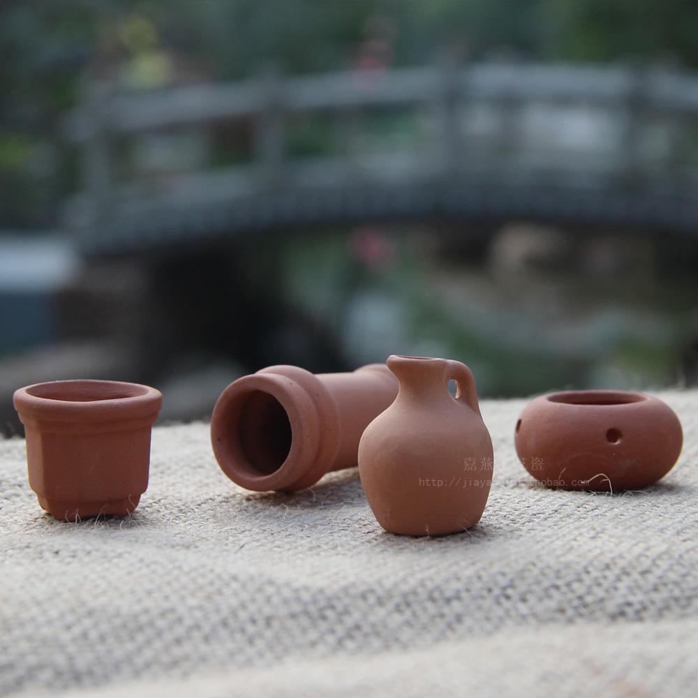 JIAYAN Dollhouse miniatura Maceta de terracota Jardín eólico rural - Decoración del hogar - foto 3