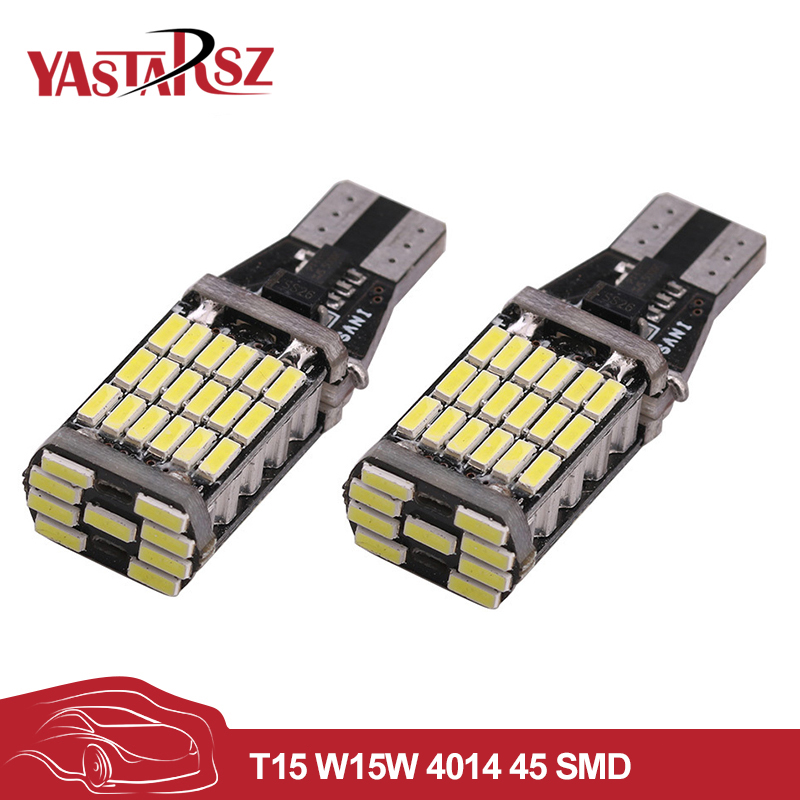 2pcs canbus led W16W LED CANBUS T15 45led 4014smd Chip LED High Power Light Bulbs Compatible with T10 W5W LED Bulbs Car styling 2 x t10 led w5w canbus car side parking light bulbs with projector lens for mercedes benz c250 c300 e350 e550 ml550 r320 r350