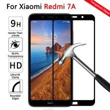 Che phủ toàn bộ kính Cường Lực Cho Xiaomi Redmi 7A Tấm Bảo Vệ Màn Hình trên Cho Nồi Cơm Điện Từ Redmi 7A 7 một Redmi 7A Bảo Vệ kính cảm ứng Phim 9 H
