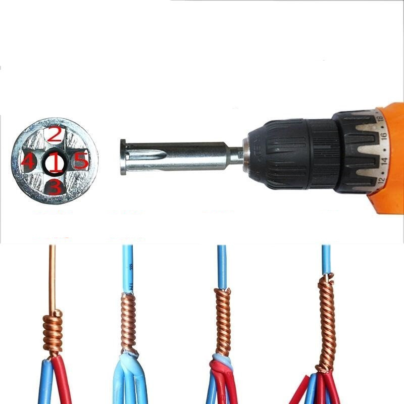 Magical Automatic Wire Stripper And Twisted Wire Tool Electrician Quick Wire Connector Ferramentas Auxiliary Tool