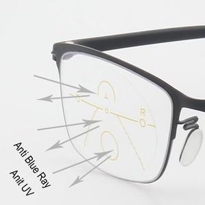 Image 5 - Fashion Progressive Glasses Anti Blue Ray Multifocal Reading Eyeglasses Presbyopic Spectacles Unisex Design Glasses Frame