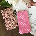 360 grau completa proteja phone case com 9 h de vidro temperado para iphone 6,6 s, 6 plus, 6 splus, 7,7 mais duro pc pink pattern leopard