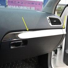 2 шт./компл. Нержавеющая сталь перчатки коробка для хранения ручки крышки пилот Молдинги для Защитные чехлы для сидений, сшитые специально для Volkswagen POLO 2011 для детей возрастом 12, 13, 14, 15, 16 AA344