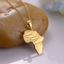 2019 personality Africa map necklace gold silver jewelry charm man BFF birthday gift