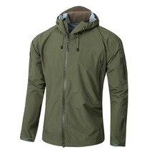 Outdoor Hard shell Hunting Camo Men Windbreaker Jacket Camouflage Hooded Hardshell Pressure Glue Waterproof Coat Male Tops