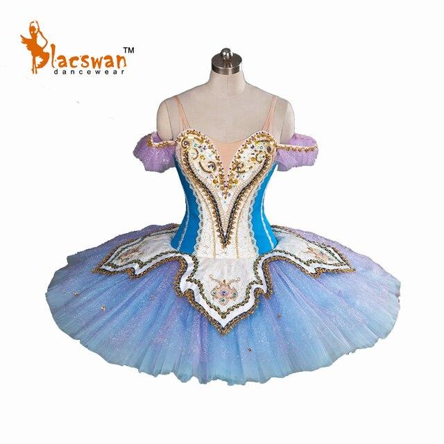 2017 New Blue Professional Tutu Ballet Costumes BT814 Girls Classical YAGP Ballet Tutu Professional Stage Platter Tutu for Adult