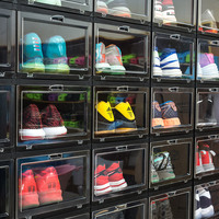 Anti Oxidation Plastic Sneaker Collection Erect Display Shoe Cabinet Super Heavy Thick Material High Grade Transparent Shoe Box