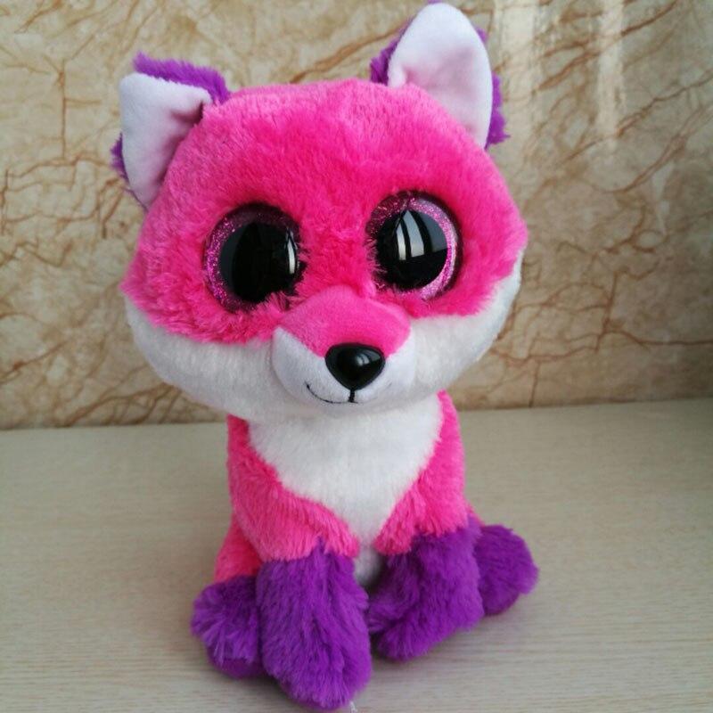5cc4d37513c 25cm Joey fox Ty Beanie Original Fox Plush Toy Stuffed Animal Kids Toy  Birthday Gift Big Eye Doll Graduation-in Stuffed   Plush Animals from Toys    Hobbies ...
