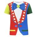 Homens Palhaço Coringa 3D T Camisa Do Traje Do Carnaval Novidade Tee