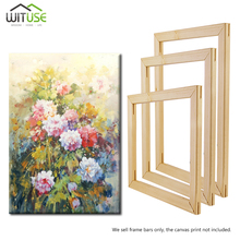 2Pcs 20-60cm DIY Canvas Wooden Frame Wood Strip Stretcher Bar Home Office Gallery Wall Art(A System Needs 4pcs)