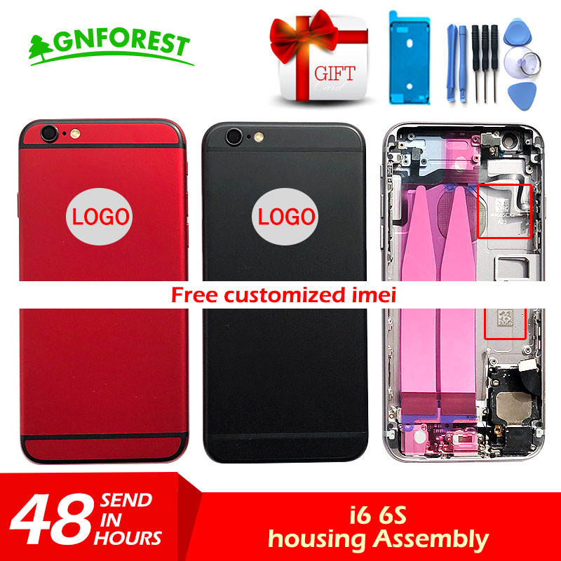 Battery-Cover Chassis Back-Housing Sticker--Tool Custom iPhone 6 IMEI 6s-Plus for Metal