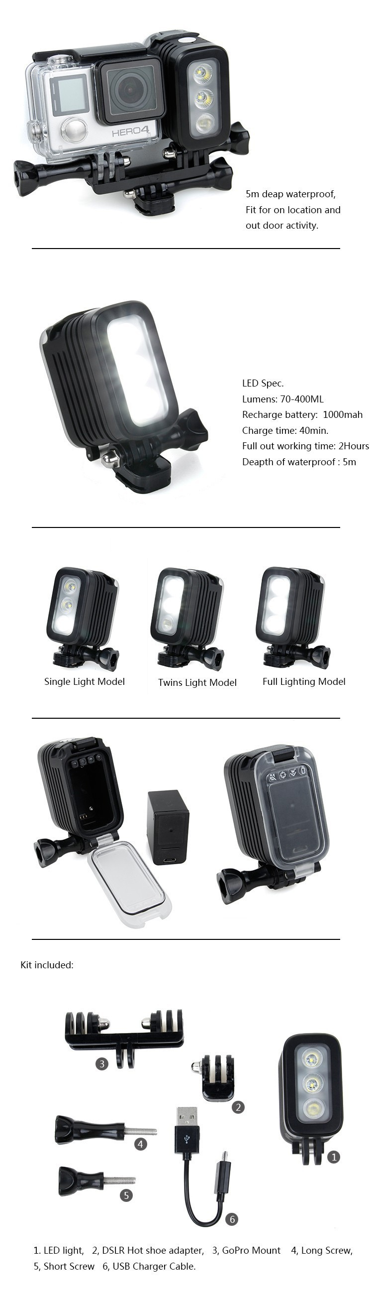 Gopro Diving LED Light (6)
