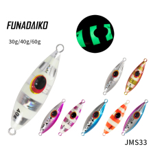 цены FUNADAIKO 5pcs/lot lead jig fishing bait isca artificial metal jig jigging lure Slow jig fishing Jig lure 30g 40g 60g jig