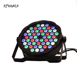 LED Flat Par 54x3W RGB Color Lighting Strobe DMX For Atmosphere of Disco DJ Music Party Club Dance Floor BAR Darkening