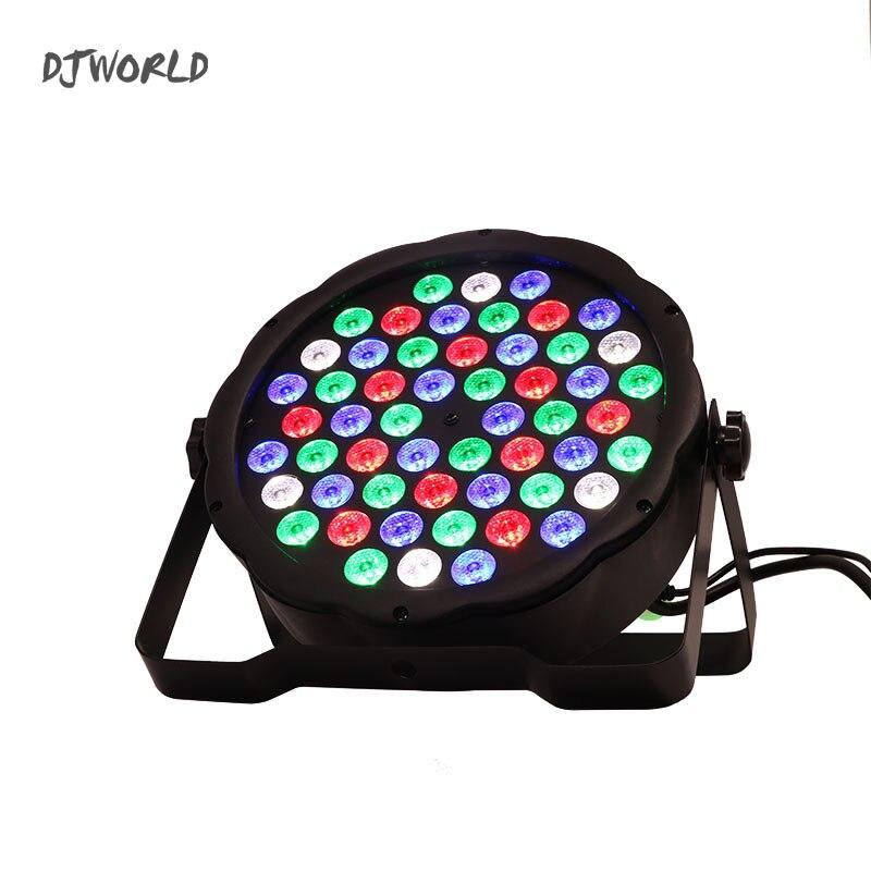 LED Par plana 54x3 W iluminación de Color RGB DMX estroboscópico para la atmósfera de DJ Music Party Club baile BAR oscurecimiento