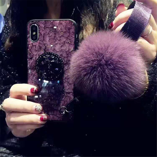 Luxury Purple Marble Phone Case for iPhone 6 6s 7 8 Plus XR XS Max X ... 2ddc11ae0a2c