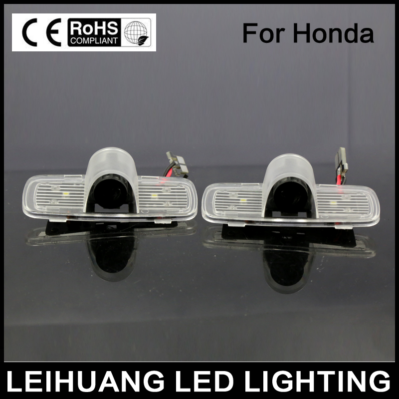 No Drill Laser LOGO LED Door Shadow Lights for Honda Accord Crosstour 1pc laser drill buddy drill dust collector diy