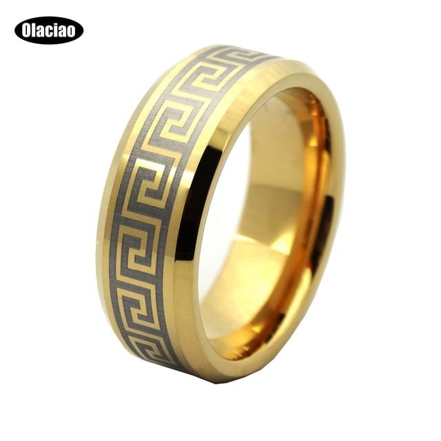 Free Shipping Dragon Tungsten Carbide Ring Gold Wedding Band Rings