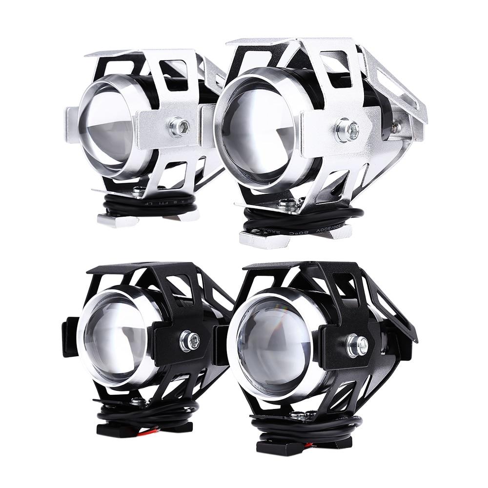 2 piezas 125 W 12 V 3000LM U5 LED transformar Spotlight faro motocicleta de Material de aleación de alto brillo, fácil de instalar
