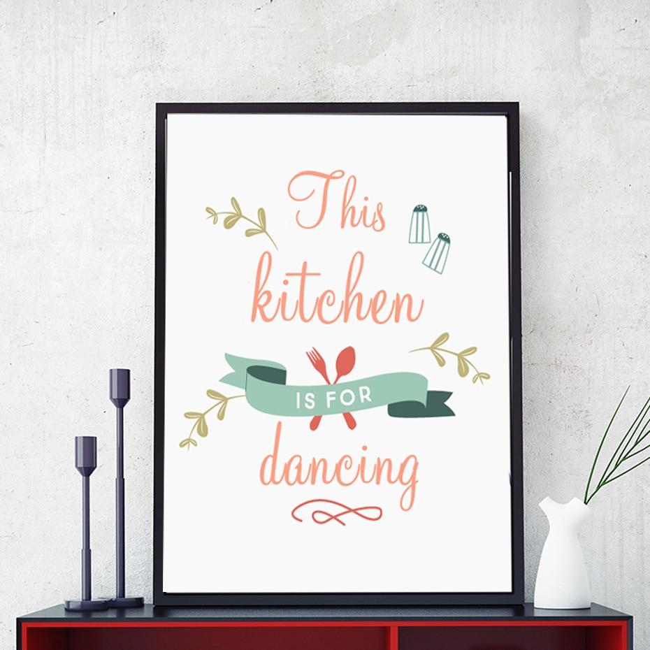 nuovo mondern questa cucina per ballare manifesto di arte della parete della tela di canapa