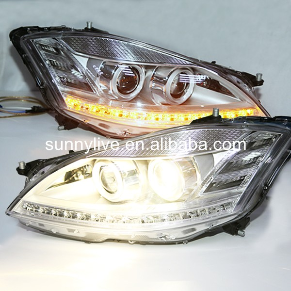 2005-2009 year For Benz W221 Headlight LED Front Light with AFS function Chrome housing LF