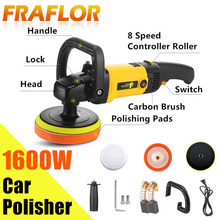 220V High Speed Car Polisher 6 Variable Speed 1600W High Power Car polisher For Car Paint Care Polishing Waxing Free Pad Bonnet